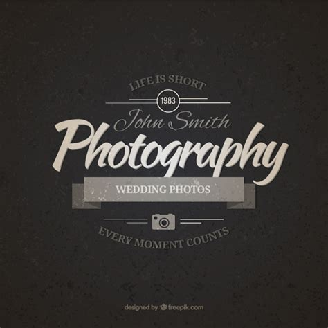 Vintage Photography Badge Vector Free Download Free Psd Logo Templates For Photographers