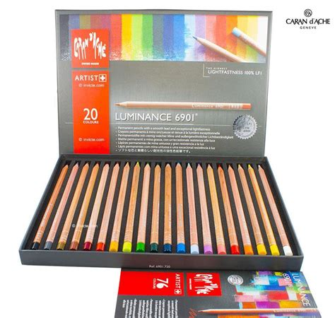 caran d ache colored pencils caran d ache luminance 6901 professional set of 20