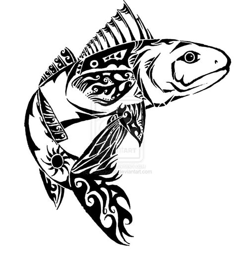 tribal fish tattoos 1000 images about tats on eagle back