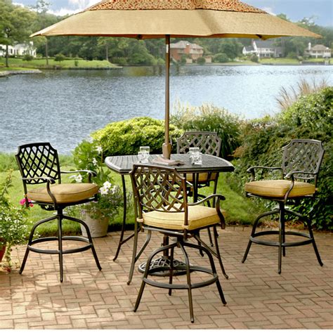 bar height patio sets bar patio set patio design ideas