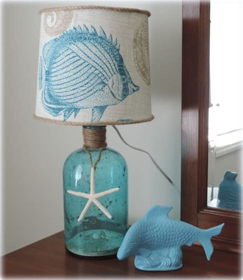 Nautical Themed Bathroom Ideas diy decor a beach inspired bottle table lamp beach
