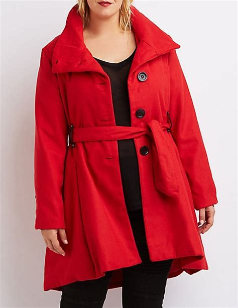 plus size wool swing coat plus size wool blend swing coat charlotte russe