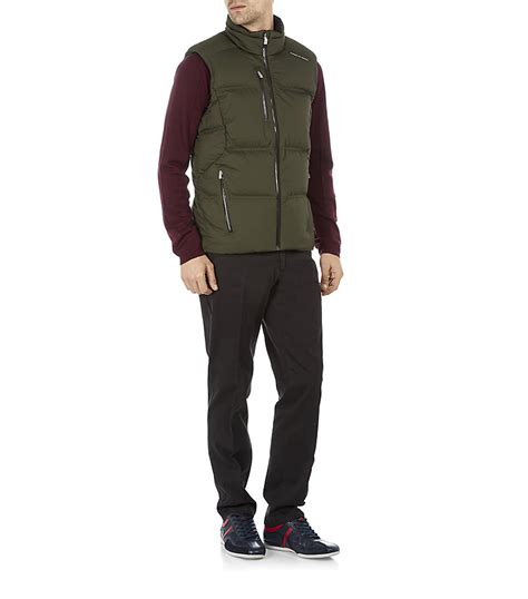porsche design clothes uk porsche design down gilet in green for men lyst