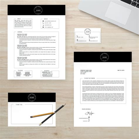 Instant Business Letter Kit Pdf Resume Template Package Cv Template Cover Letter
