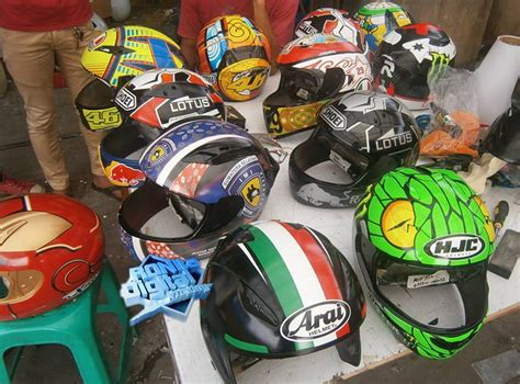 design helm sendiri print helm ronita digital printing