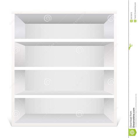 scaffale bianco scaffale bianco illustrazione vettoriale immagine di