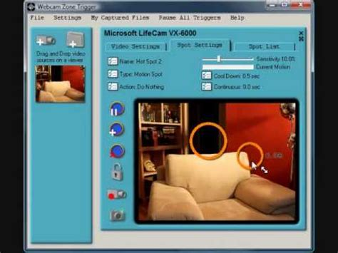 motion detection software zone trigger motion detection software