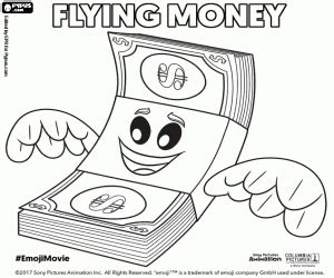 emoji film fist money emoji movie coloring pages printable games