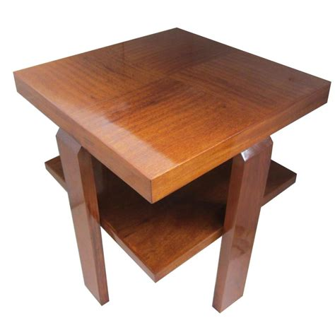 To The Table Deco Mahogany Occasional Table Modernism