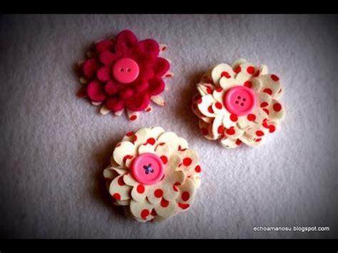 flores de telas hechas a mano