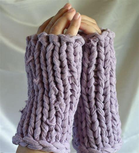 knitting pattern with tshirt yarn pattern fingerless gloves knit with t shirt yarn