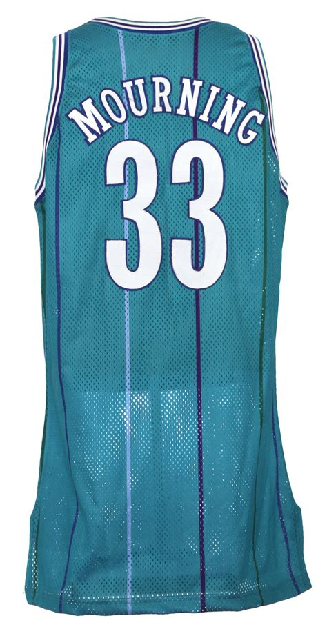 hornets new year jersey lot detail 1992 93 alonzo mourning hornets