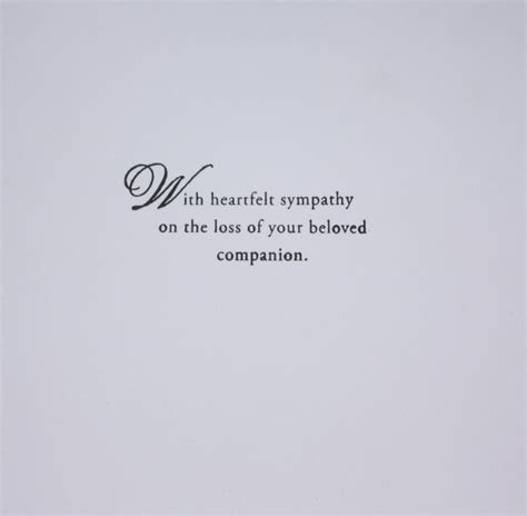 sympathy quotes for loss of sympathy quote due to loss of husband quote number