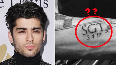 zayn tattoo zayn unveiled a new but fans spotted a