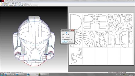 Space Marine Template by Space Marine Scaling The Parts In Pepakura