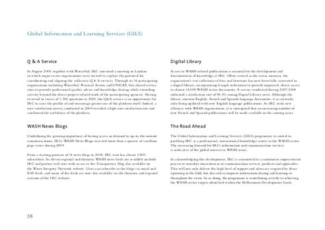 irc section 62 irc annual report 2009