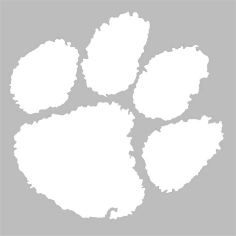 clemson tigers white 12 quot paw decal