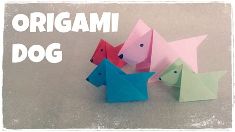 3d origami dog tutorial origami origami for kids origami dog tutorial very easy