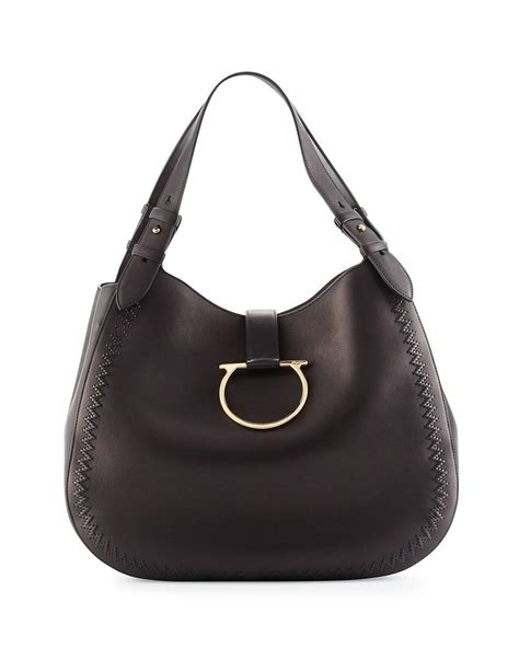Perrine Bag ferragamo perrine gancio bracelet hobo bag in black lyst