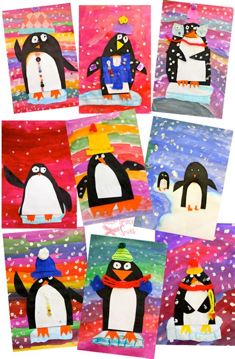 penguin art project deep space sparkle