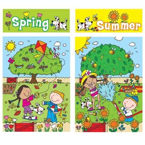 Seasons Board four seasons bulletin board set homeschool