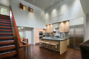 Ceiling Track Lights For Kitchen Some Vaulted Ceiling Lighting Ideas To Your Home Design Homestylediary