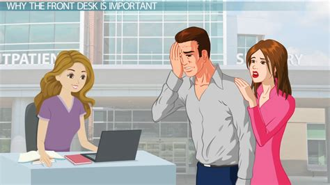 hospital front desk the importance of the front desk in a office