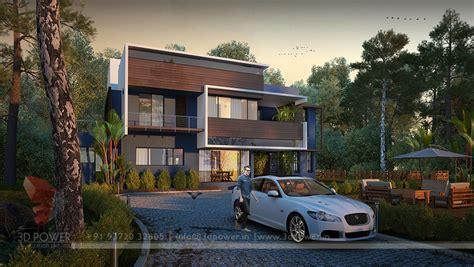 3d house view modern house 3d home design evening view ultra modern home designs