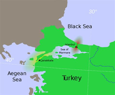 middle east map dardanelles a map showing the straits with the bosporus in and