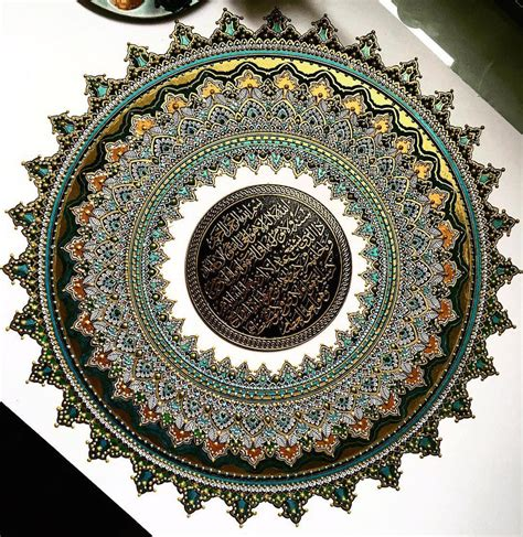 Mandala Gold intricate mandalas gilded with gold by artist asmahan a mosleh colossal