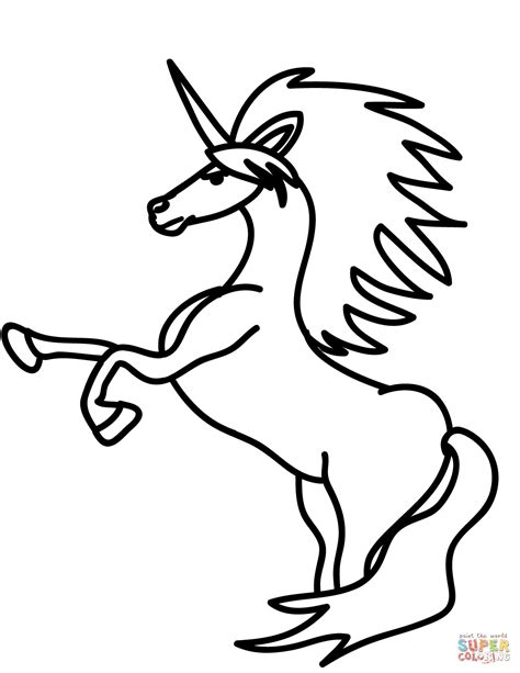 unicorn coloring rearing unicorn coloring page free printable coloring pages