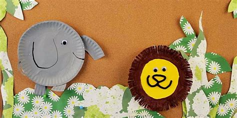 Animal Paper Plate Crafts - paper plates animal craft for ideas arts and crafts