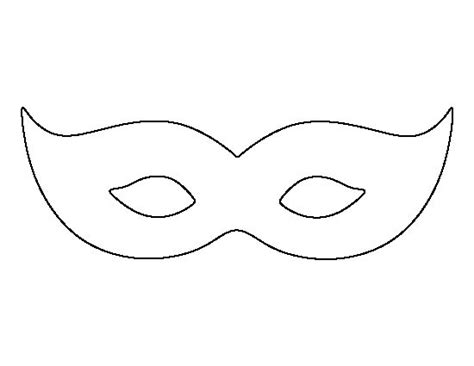 printable mask template free mardis gras mask pattern use the printable outline for