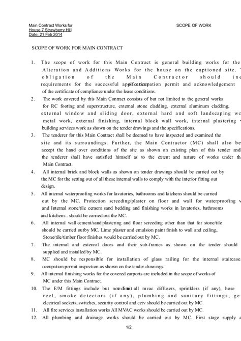 91 Interior Design Contract Scope Of Work Gulf House Flipping Scope Of Work Template