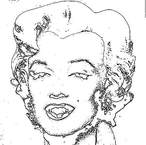 8 Best Manlyn Monroes Images On Pinterest Adult Coloring Marilyn Coloring Pages