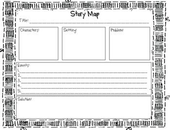 printable quiz on story elements story map for first or second grade by cherie lennex tpt