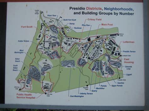 san francisco map presidio the presidio of san francisco san francisco california