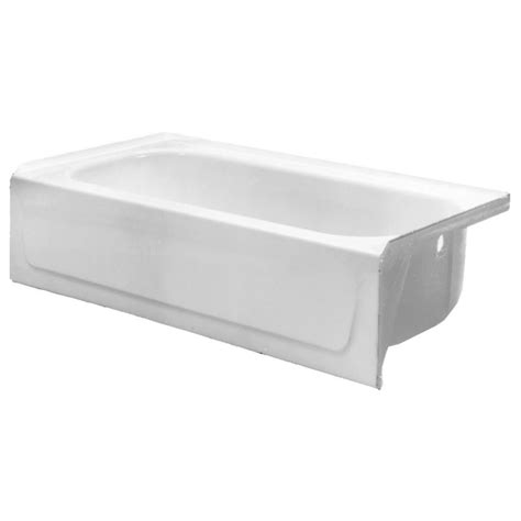 proflo bathtub proflo pfb14rs2wh white 60 quot x 30 quot enameled steel soaking bathtub three wall alcove