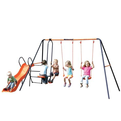 Hedstrom Europa Double Swing Glider And Slide Combination