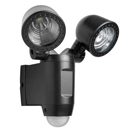 battery powered external lights blooma lumi graphite 1w battery powered pir spotlight