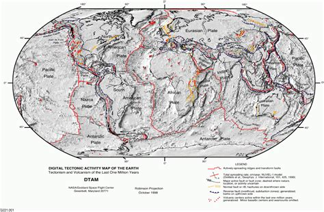 tectonic plate map plate tectonics