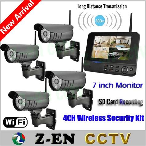 2017 new 7 lcd monitor wireless home surveillance system