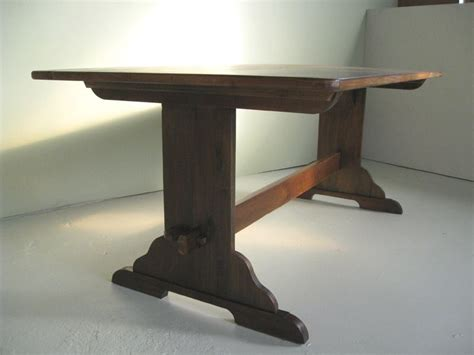 handmade original style trestle dining table by