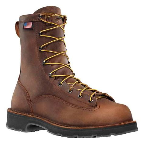 danner work boots danner 15548 bull run brown leather safety toe work boots