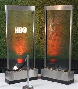 Stainless Steel Decorative Panels 8 Glass Water Walls Town Amp Country Event Rentals