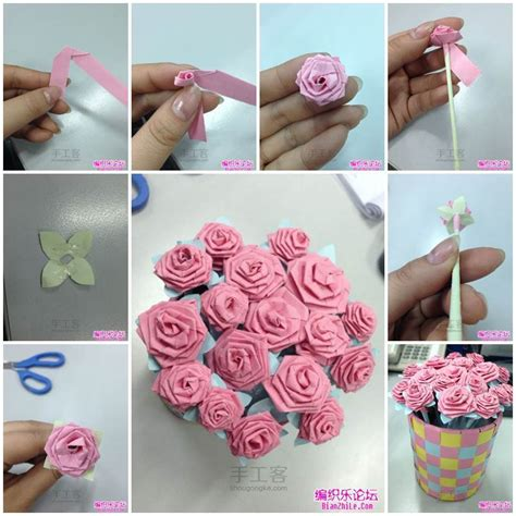How Do You Make Paper Roses - diy origami bouquet