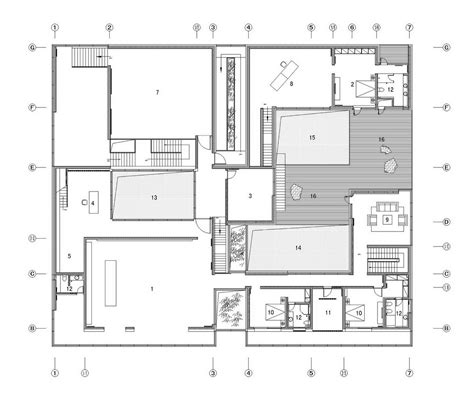 architect plan gallery of the concave house tao architect studio 22
