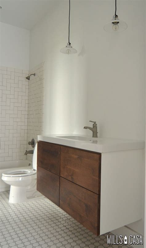 Modern Guest Bathroom Sinks Modern Bathroom For Guests And Such Custom Wood Sinks