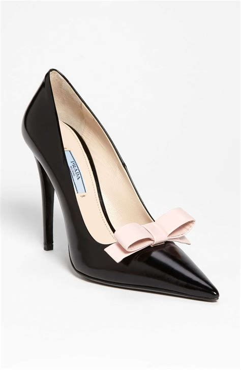 Bow Pointed Pumps prada bow pointy toe womens shoes womens pumps