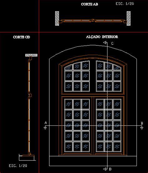 wooden door elevation  sections dwg section